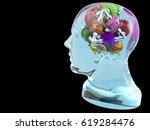 braingear human head with black | Shutterstock . vector #619284476