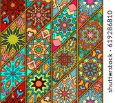 colorful vintage seamless...   Shutterstock .eps vector #619286810