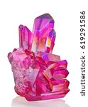 amazing colorful quartz pink... | Shutterstock . vector #619291586