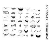 cartoon mouth icon | Shutterstock .eps vector #619293779