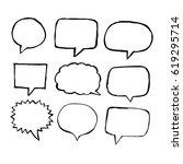 speech bubble hand drawn | Shutterstock .eps vector #619295714