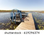 Small photo of Airboat at a jetty in the Everglades National Park. Florida, United States