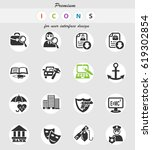 job search web icons for user... | Shutterstock .eps vector #619302854