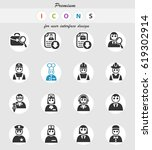 job search web icons for user... | Shutterstock .eps vector #619302914