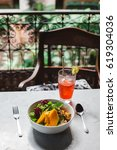 healthy vegetable bowl with...   Shutterstock . vector #619304036