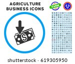 income rounded icon with... | Shutterstock .eps vector #619305950
