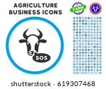 cow sos message rounded icon...
