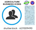 clients rounded icon with... | Shutterstock .eps vector #619309490
