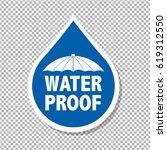 water drop text | Shutterstock . vector #619312550