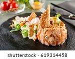 gourmet restaurant food  ...   Shutterstock . vector #619314458
