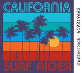 theme of surfing with text... | Shutterstock .eps vector #619319663