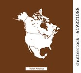 map of north america | Shutterstock .eps vector #619321088