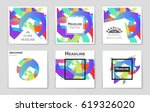 abstract vector layout... | Shutterstock .eps vector #619326020