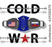 cold war conflict | Shutterstock . vector #619330370
