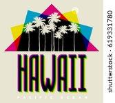 theme of hawaii beach....   Shutterstock .eps vector #619331780
