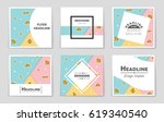 abstract vector layout... | Shutterstock .eps vector #619340540