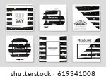 abstract vector layout... | Shutterstock .eps vector #619341008