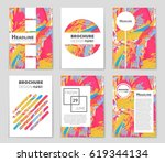 abstract vector layout... | Shutterstock .eps vector #619344134