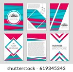 abstract vector layout... | Shutterstock .eps vector #619345343