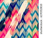 seamless oil painting vector... | Shutterstock .eps vector #619352810