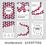 abstract vector layout... | Shutterstock .eps vector #619357556