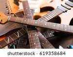 electric guitars stacked up ... | Shutterstock . vector #619358684