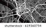 urban vector city map of dallas ... | Shutterstock .eps vector #619360754