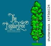 cartoon isolated poplar summer... | Shutterstock .eps vector #619366124