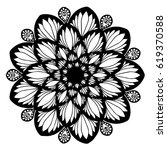 mandalas for coloring book.... | Shutterstock .eps vector #619370588