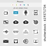 communication vector icons for... | Shutterstock .eps vector #619371734
