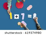 mathematics equation formula... | Shutterstock . vector #619374980