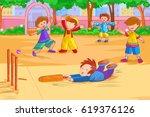 vector design of kids playing...   Shutterstock .eps vector #619376126