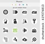 car shop vector icons for user... | Shutterstock .eps vector #619376813