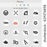 car shop vector icons for user...   Shutterstock .eps vector #619376858