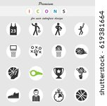 basketball vector icons for... | Shutterstock .eps vector #619381664