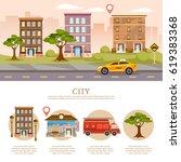 city background  cityscape...   Shutterstock .eps vector #619383368