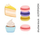 cute set of illustrations of... | Shutterstock .eps vector #619393454