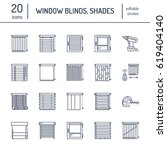 window blinds  shades line... | Shutterstock .eps vector #619404140