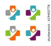 cross health care logo template