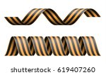 vector striped st george ribbon ... | Shutterstock .eps vector #619407260