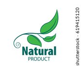 logo natural product | Shutterstock .eps vector #619415120