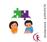 group of people icon  friends... | Shutterstock .eps vector #619419170