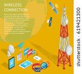equipment of wireless...   Shutterstock .eps vector #619421300