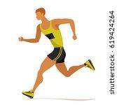 professional sprinter ... | Shutterstock .eps vector #619424264