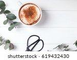 minimalistic still life with... | Shutterstock . vector #619432430