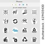 alternative energy web icons... | Shutterstock .eps vector #619435430