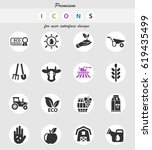 agricultural web icons for user ... | Shutterstock .eps vector #619435499