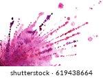 Purple Pink Splash In Watercolor