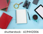 top view mock up tablet similar ... | Shutterstock . vector #619442006