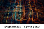 3d illustration. circuit board... | Shutterstock . vector #619451450